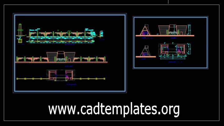Fence Gate Plan and Elevation Details CAD Template DWG