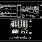Food Processing Plant CAD Template DWG