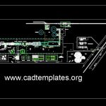 Glass Factory Layout Plan CAD Template DWG