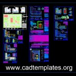 Industrial Forage Factory Plans and Elevations CAD Template DWG