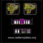 Library Plan and Elevation Details CAD Template DWG