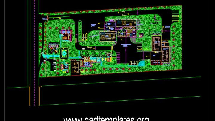Mangos Factory Layout Plan CAD Template DWG