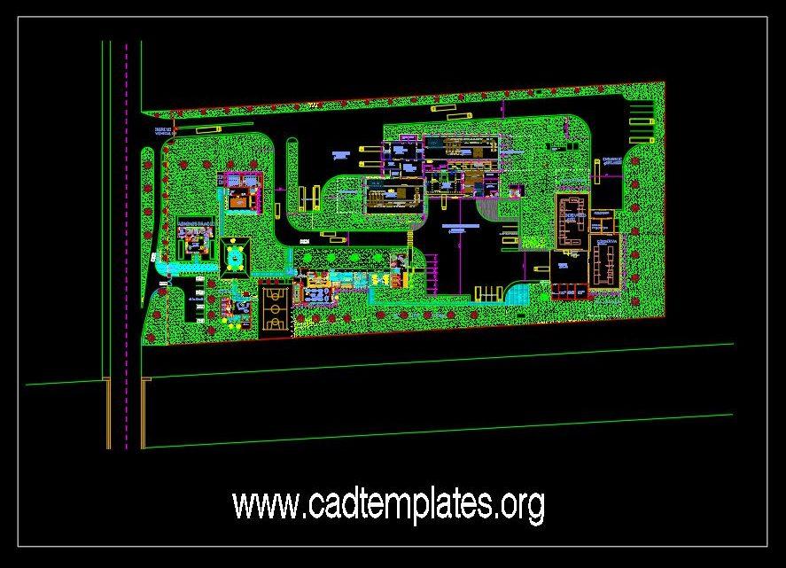 Mangos Factory Layout Plan CAD Template DWG