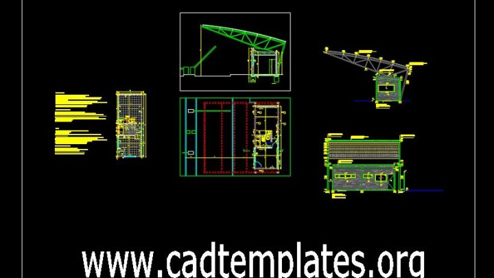 Metal Construction Details CAD Template DWG