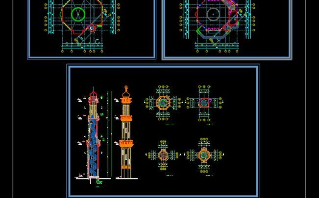 Mosque Layout Plan and Elevation Details CAD Template DWG
