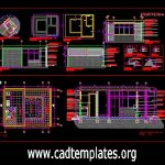 Office Of Door Man Plan and Elevation CAD Template DWG