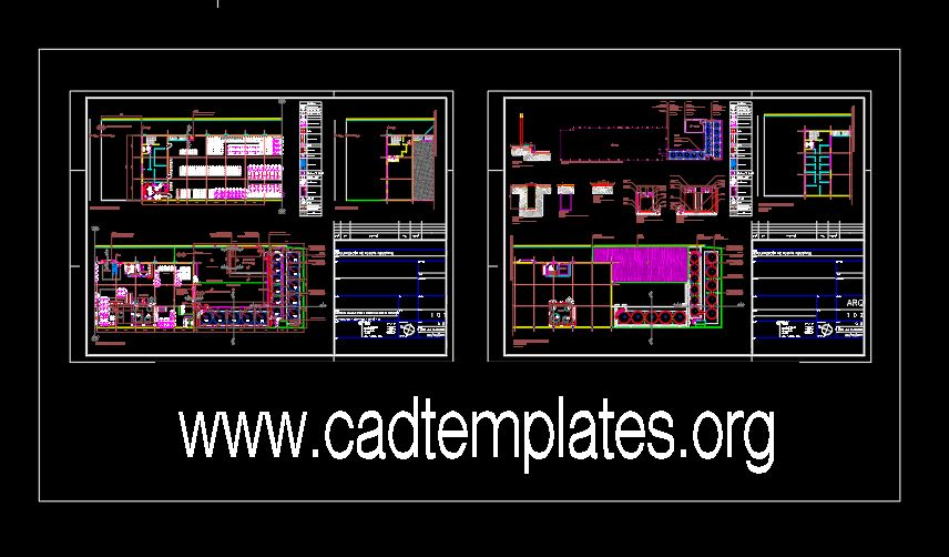 Oil Industry Layout Plan CAD Template DWG