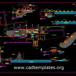 Olympic Swimming Pool Plan and Elevation Details Cad Template DWG