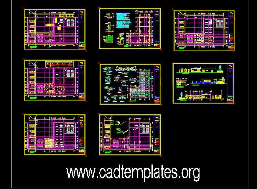 Oxygen Plant CAD Template DWG