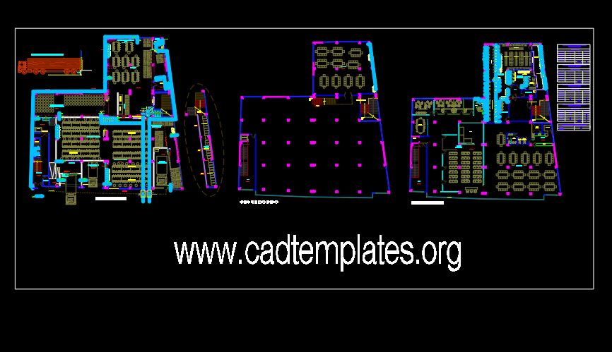 Primary Processing Plant CAD Template DWG