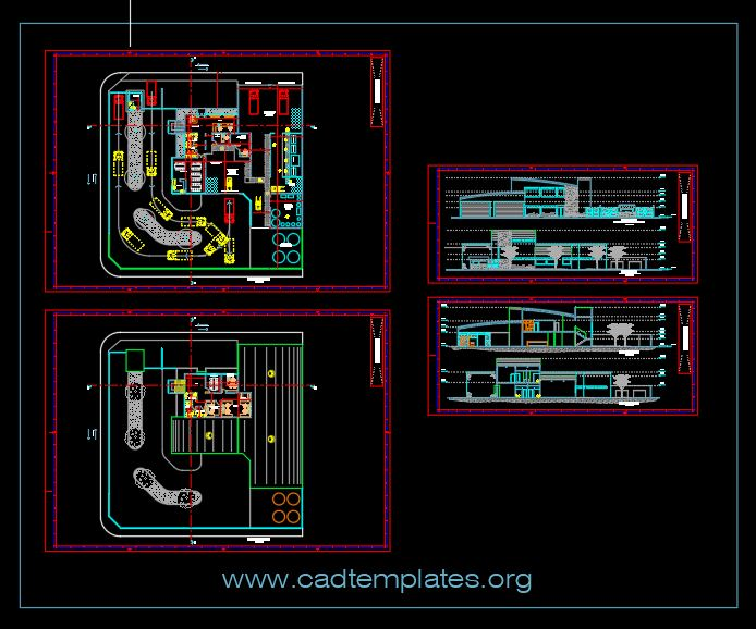 Project Bottling Plant Bottled Water CAD Template DWG