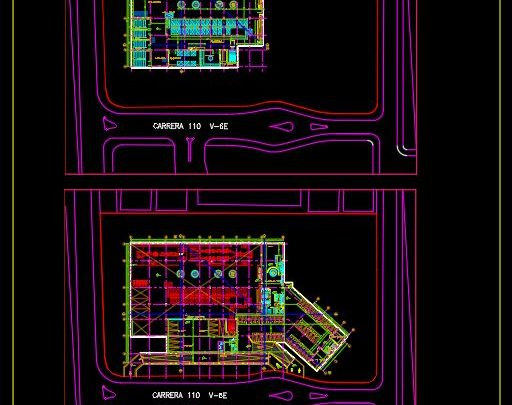 Recycling Center Project CAD Template DWG