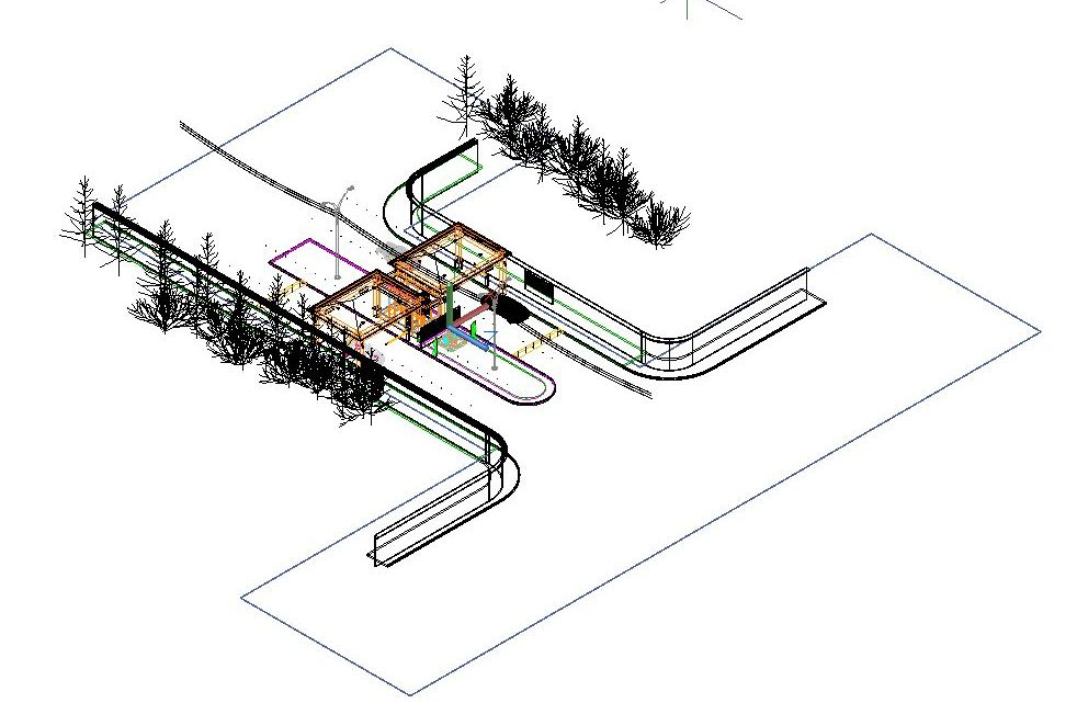 Security Check Point 3D Model CAD Template DWG