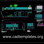 Sliding Door Cars Access Details CAD Template DWG