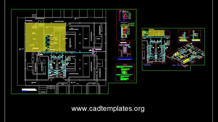 White Water Bottling Plant CAD Template DWG