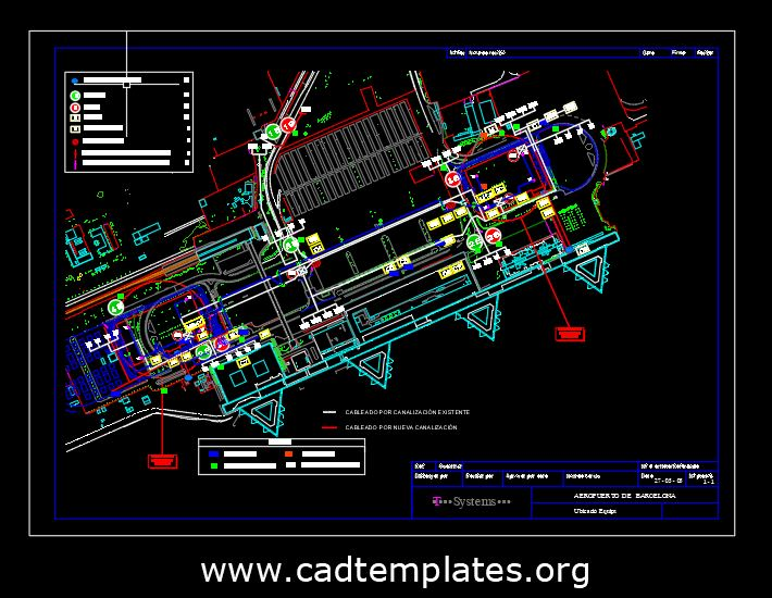 Airport Equipments Layout Plan CAD Template DWG