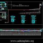 Back Wash Transfer Plan Elevation and Section Details CAD Template DWG