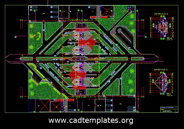 Border Control Boxes Layout Plan CAD Template DWG