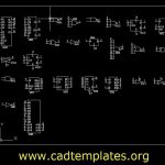 CMOS Integrated Circuits CAD Template DWG