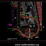 Cat Walk Steel Truss Structural Plan CAD Template DWG