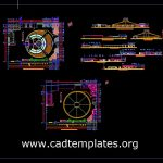 Circus Layout Plan and Elevations Details CAD Template DWG