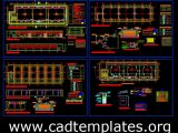 Classrooms Structural and Electrical Details CAD Template DWG