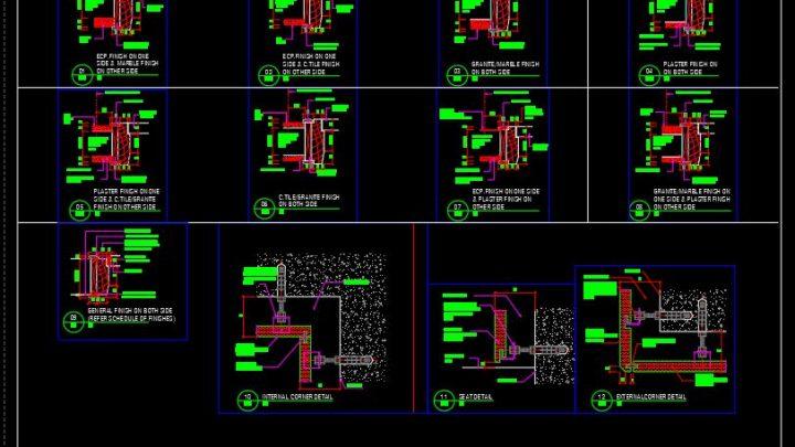 Door Jambs and Stone Fixing Details CAD Template DWG