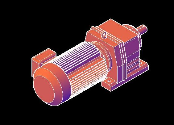 Electric Motor 3D Model CAD Template DWG