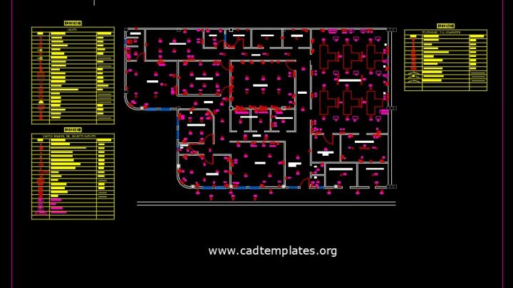 Electrical Wiring Plan CAD Template DWG
