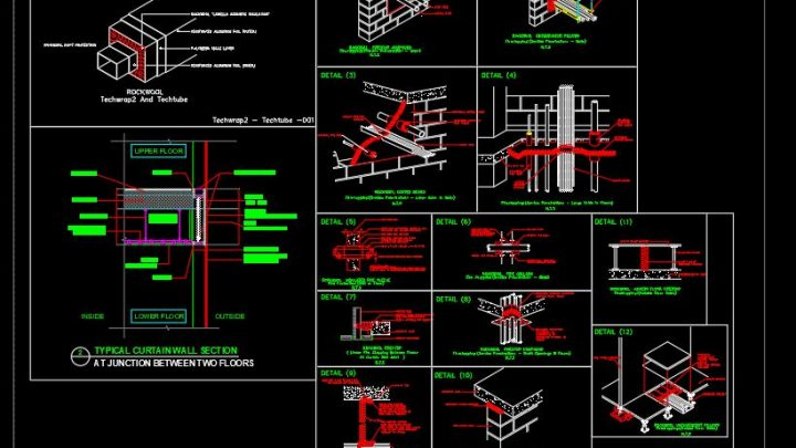 General Fire Stop Details CAD Template DWG