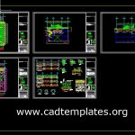 Heliport Layout Plan and Sections Details CAD Template DWG