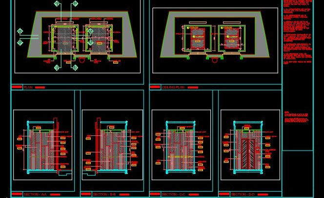 Lift Cabin Details CAD Template DWG