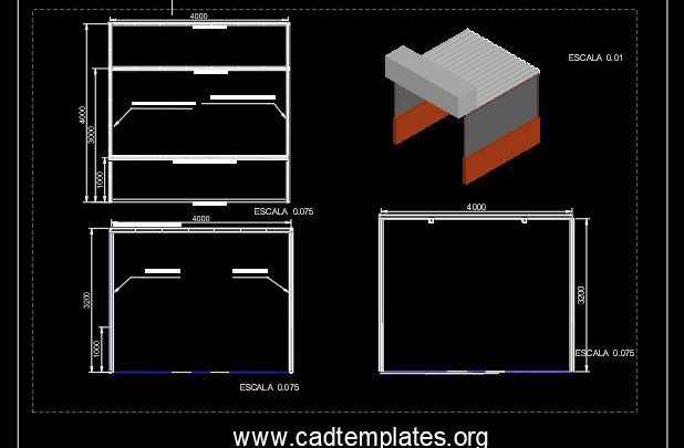 Market Stad Elevation Details CAD Template DWG