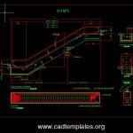 Mechanical Escalator Structural Details CAD Template DWG
