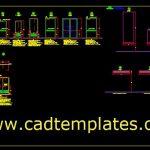 Metallic Doors Details CAD Template DWG