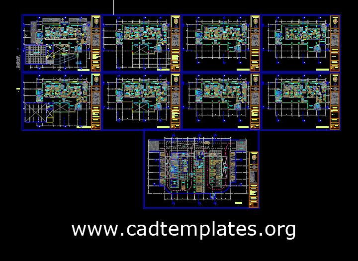 Municipality Layout Plan and Elevations CAD Template DWG