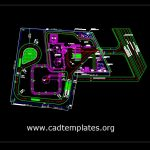 Petroleum Site Layout Plan CAD Template DWG