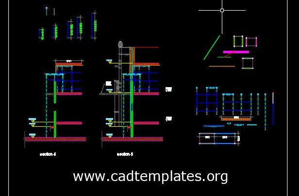 Scaffolding Elements Details CAD Template DWG
