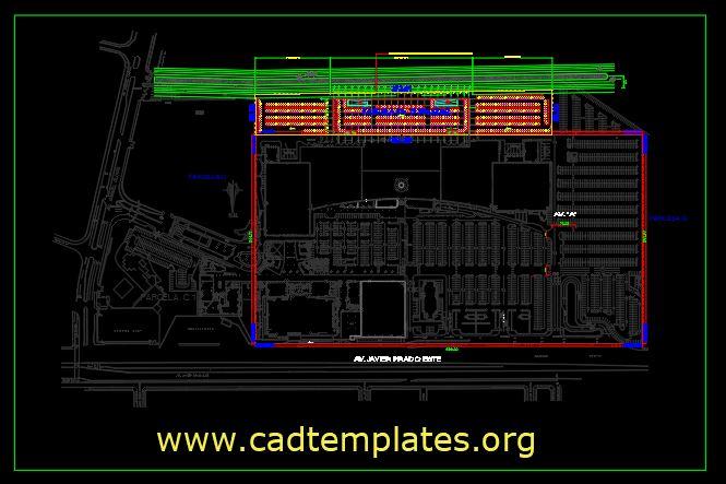 Shopping Center As Built Plan CAD Template DWG