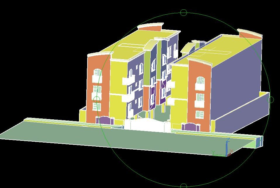 Single Family Home 3D Model CAD Template DWG