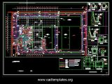 Site Drainage Layout Plan and Sections Details CAD Template DWG