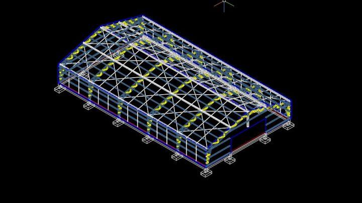 Steel Breeding Ground 3D Model CAD Template DWG
