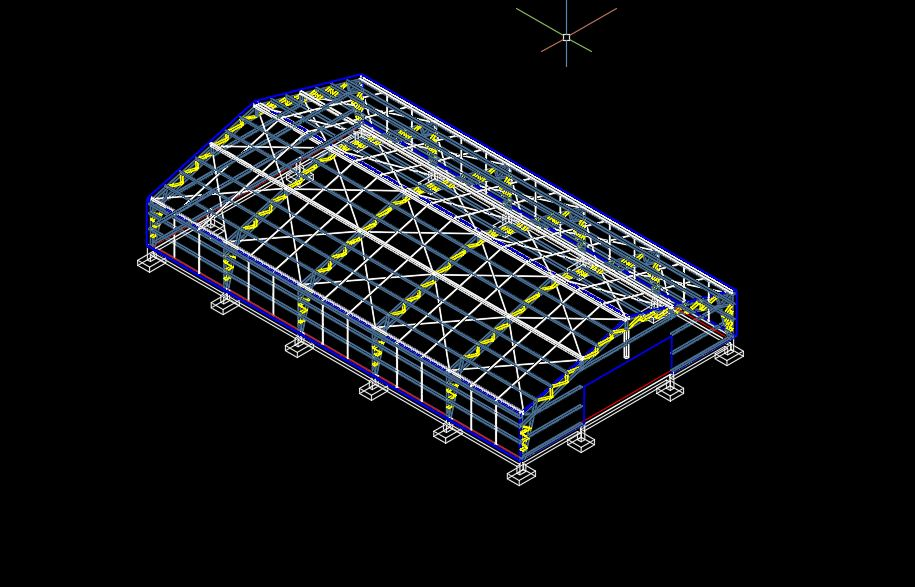 Steel Breeding Ground 3D Model CAD Template DWG