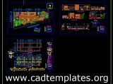 Truck Driver And Pensioners Offices Plan CAD Template DWG