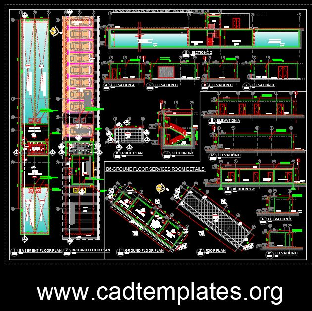 Underground Pump And Watertank Details CAD Template DWG