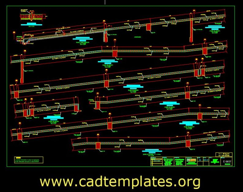 Vehicle Ramp Elevation Details CAD Template DWG