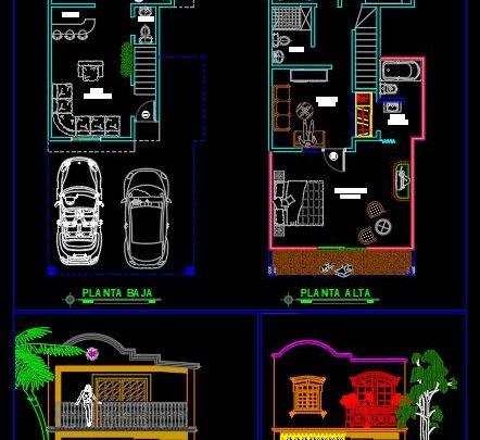 Villa Layout Design CAD Template DWG