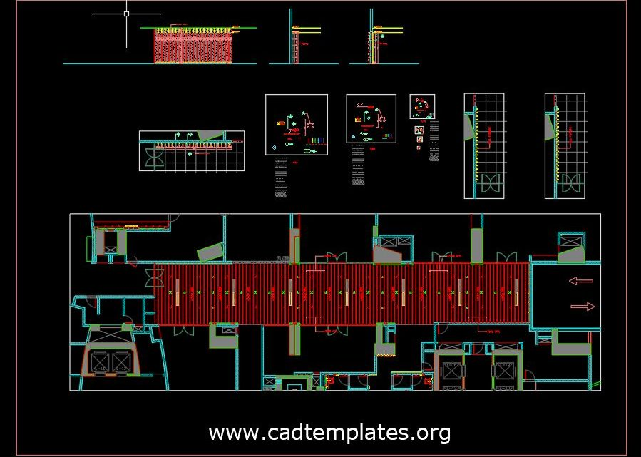 Wall Feature Panelling Details CAD Template DWG