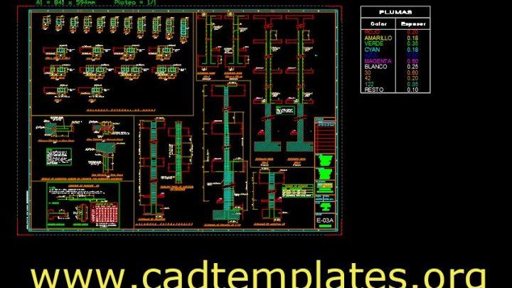 Walls Reinforcement Concrete Details CAD Template DWG