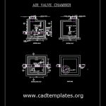 Air Valve Chamber Details CAD Template DWG